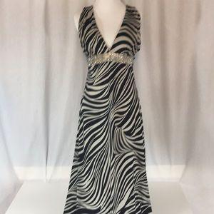 Zebra print long dress